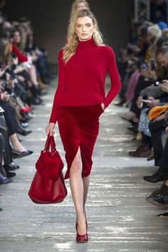 Bright, Bold Red Is All You'll Be Wearing Next Fall