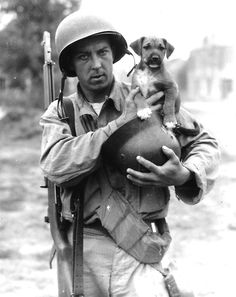 Can't get enough of soldiers with animals.