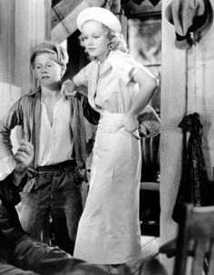 Mickey Rooney and Jean Harlow in Riffraff (1936)
