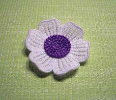 Blume8_6Blatt-a LACE, Embroidery, freeby, Flower
