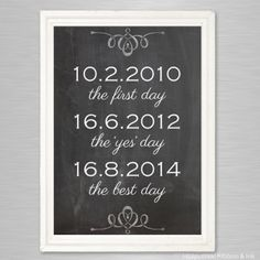 Important dates -printtitaulu omilla päivämäärilläsi, itse tulostettava Dream Wedding, Wedding Stuff, Wedding Ideas, Important Dates, Ink, Weddings, Inspiration, Decoration, Biblical Inspiration