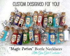 Spoonful of Sugar Bottle Necklace Mary mINI by LittleGemGirl