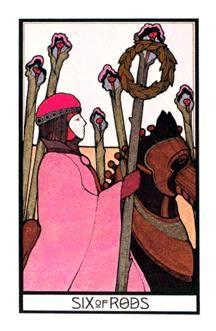 March 20 Tarot Card: Six of Wands (Aquarian deck) Your confidence and creativity are high and things are working in your favor ~ don't stop now