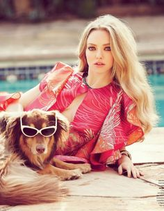 6f4134d524 Amanda Seyfried for Tatler Russia April 2013 Amanda Seyfried Dog