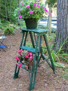 Antique primitive step ladder...