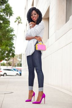 Outfit Details: Sweater (F21-old): Similar here, here, here or here (splurge) | Jeans: Try here, here (budget friendly) or there | Bag: Tonya Hawkes | Shoes: So Kate. Enjoy and have a blessed weekend.