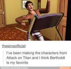 Hoover as a Sim is interesting. Nah this is probably what he always does on the treadmill.