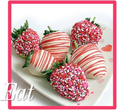 I don't know about you but chocolate covered strawberries were created for this day to be enjoyed all day! Valentines Day Chocolates, Valentine Chocolate, Strawberry Dip, Strawberry Desserts, Cupcake Cakes, Cupcakes, Chocolate Dipped Strawberries, Candy Apples, Delicious Desserts