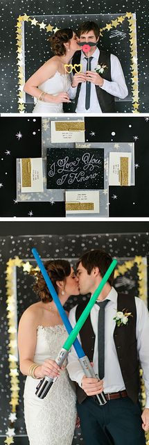 Absolutely stunning and gorgeous modern Star Wars Wedding photographed by the fabulous @Meg Ruth