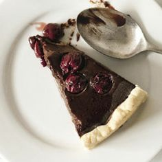 Chocolate cherry torta di nonna - Cuisine magazine nz
