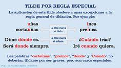 SERVICIO DE LENGUAJE Y LITERATURA: REGLA ESPECIAL DE TILDACIÓN / TILDE ESPECIAL