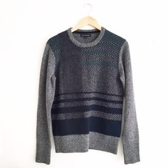 Banana Republic Magnified Plaid Sweater Size small. Oversized fit. First picture filtered. Pristine condition. No rips it stains. No trades or PayPal please don't ask ladies! Banana Republic Sweaters Crew & Scoop Necks