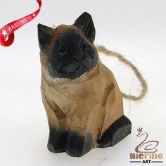 New listing! Hand-carved wooden Cat painted decorative wall carvings ZR10036 #ZL #Ornament