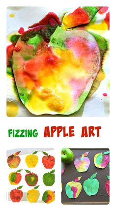 Science and Art go together in this fun and engaging apple themed art activity. Make sun catchers or string the apples into a garland. Perfect Fall craft for kids! Autumn Activities For Kids, Art Activities, Crafts For Kids, Apple Crafts For Preschoolers, Fall Art For Toddlers, Diy Crafts, Preschool Apple Theme, Preschool Apples, Preschool Apple Activities