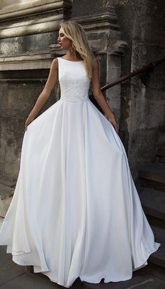 Courtesy of Oksana Mukha wedding dress; www.oksana-mukha.com; Wedding dress idea. #weddingdresses