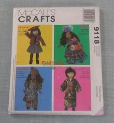 MCCALLS-9118-SEWING-PATTERN-14-18-GLOBAL-FRIENDS-GIRL-DOLL-CLOTHES-COSTUMES