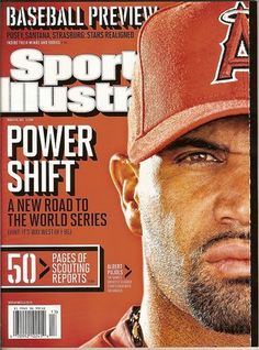 On the Cover: Albert Pujols, Baseball, Anaheim Angels Photographed by: Robert Beck / SI Baseball Star, Angels Baseball, Si Cover, Albert Pujols, Sports Illustrated Covers, The Outfield, World Of Sports, Chicago Cubs, How To Look Better