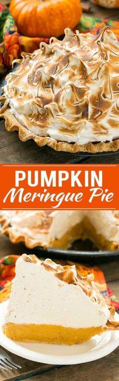Pumpkin Meringue Pie 2 hrs to make, serves 10
