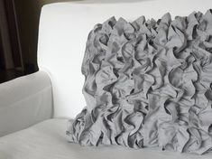Ruffled Pillow Cover 17x17 by metzinteriors on Etsy, $25.00