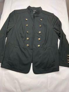 dc291fce2c3 LANE BRYANT women s Black blazer jacket size 18 gold buttons 1078   LaneBryant  Blazer Lane
