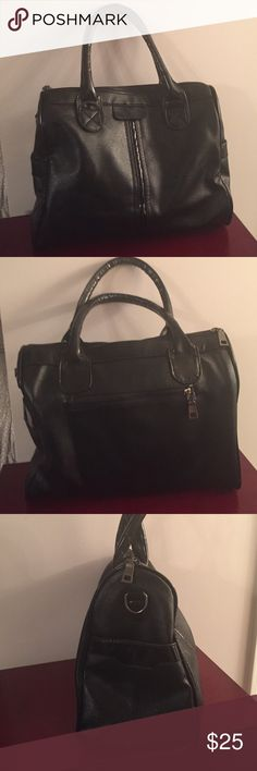 New supple black handbag Black handbag is great for every day use. It's very soft and supple with a chocolate fabric interior. Very gently used--maybe four times. Bags Satchels