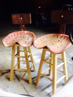 Tractor bar stools tractor seats bar stool & Husband made tractor seat barstools | Tractor seats | Pinterest ... islam-shia.org