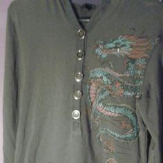 Guys Gray Dragon Sweatshirt by F.A.N.G. I am open to offers! This is a gray sweatshirt by F.A.N.G. It is 95% cotton and 5% spandex. It is size XL. F.A.N.G. Tops Sweatshirts & Hoodies