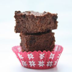 Cauliflower Brownies (Low Carb & Gluten Free)  At only 69 calories each, these are super chocolatey and delicious!  And nobody will ever guess the secret ingredient!