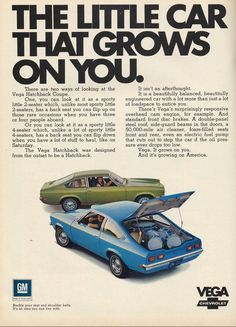 """AmeriFreight This is how we Roll. #LGMSports transport it with http://LGMSports.com 74"""" Chevrolet Vega my first car"""