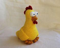 Chicken Amigurumi Crochet Pattern by TheLoftyLoop on Etsy