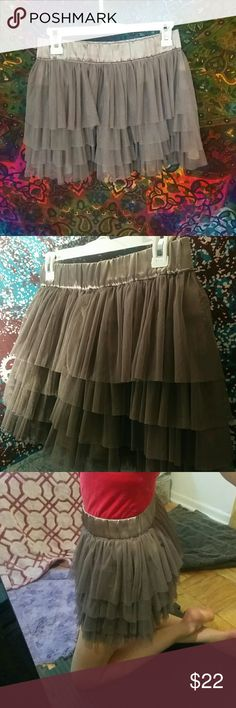 "Tulle ""tutu"" skirt - silver/gray Still in new condition, don't think it was ever worn outside the house. Super cute, even from behind with a small butt like mine! Lol Skirts"