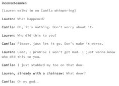Possessive Lauren is so cute & scary at the same time  #camren #tumblr
