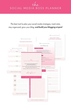 Blog Post Planner Printable By Secretowlsociety On Etsy  Making
