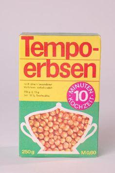 """DDR Museum - Museum: Objektdatenbank - """"Tempo-erbsen""""    Copyright: DDR Museum, Berlin. Eine kommerzielle Nutzung des Bildes ist nicht erlaubt, but feel free to repin it!"""