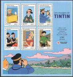 Tintin postage stamps • Red Rackham's Treasure • Tintin, Herge j'aime