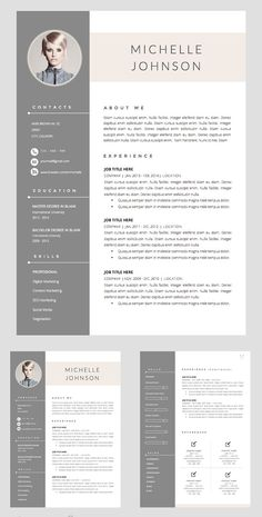 Resume Template + Cover Letter Word If you like this cv template. Check others on my CV template board :) Thanks for sharing! Cover Letter Template, Resume Design Template, Resume Template Free, Cover Letter For Resume, Creative Resume Templates, Letter Templates, Cover Letter Design, Cv Template Student, Creative Cv