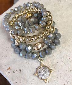 Gemstone Bracelets, Handmade Bracelets, Gemstone Jewelry, Beaded Jewelry, Jewelry Bracelets, Handmade Jewelry, Bracelet Set, Mother Daughter Bracelets, Semi Precious Beads