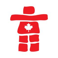 Canada Inukshuk Red Canadian Things, I Am Canadian, Canada Day Crafts, Alaska, Happy Canada Day, Canada 150, Rock Design, Native Art, Dog Care
