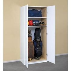 ClosetMaid 80 in. H x 36 in. W x 20 in. D White Lamninate Storage Cabinet 12338 at The Home Depot - Mobile