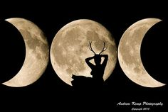 Full Moon in Taurus.Het Heru, the Goddess of Love Pagan Art, Pagan Witch, Wiccan, Witchcraft, Witches, Moon Witch, Triple Moon Goddess, Goddess Of Love, Maiden Mother Crone