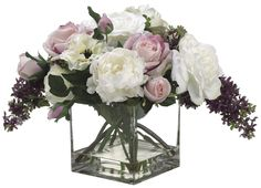 Rose, Lilac and Anemone Arrangement