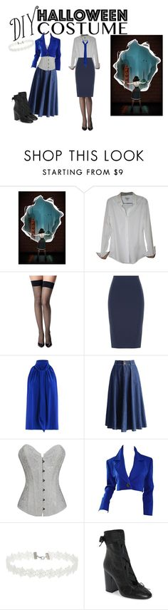 """DIY Halloween Costume: Elizabeth (Bioshock Infinite)"" by morganrebecca98 on Polyvore featuring Burberry, Commando, Roland Mouret, Barbara Bui, Chicwish, Yves Saint Laurent, Miss Selfridge, Valentino, halloweencostume and DIYHalloween"
