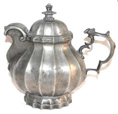 Антикварный чайник олово Зап.Европа Tea Time, Pewter, Tea Pots, Jar, Brass, Antiques, Tableware, Decor, Tin