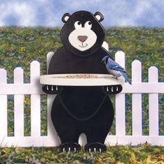 """3-D Layered Bear Bird Feeder Pattern Plan #1848 Measures 33""""H x 18""""W x 10""""D once made by you! A fun feeder to make!"""