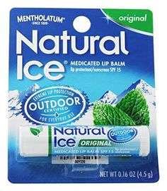 Mentholatum Natural Ice Medicated Lip ProtectantSunscreen Spf 15 Original * Details can be found by clicking on the image. (Note:Amazon affiliate link)