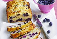 Great as a lunch box filler, this tasty treat can be served warm or cold. The pretty blueberry sweet bread will also make a fantastic slice with a cup of tea. Cupcakes, Cupcake Cakes, Diabetic Friendly Desserts, No Bake Treats, Sweet Bread, Sweet Recipes, Easy Recipes, Healthy Recipes, Coffee Cake