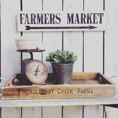 Superior FARMERS MARKET SMALL Sign 5.5 X 24 Handmade By Charlieandella. Farmhouse  DecorFarmhouse StyleFarmhouse KitchensFarmhouse ...