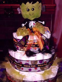halloween diaper cake baby halloween halloween projects diy diaper cake diy cake nappy cakes pamper cake nikki baby baby shower gender reveal