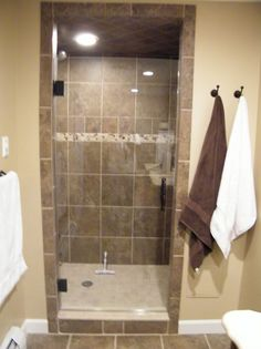 Frameless Glass Shower Door, Single Door.  Simple beauty!