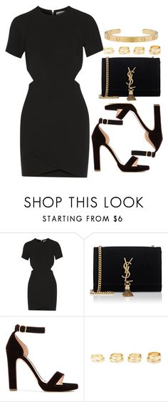 """""""Sin título #13299"""" by vany-alvarado ❤ liked on Polyvore featuring Elizabeth and James, Yves Saint Laurent, Rupert Sanderson and Charlotte Russe"""
